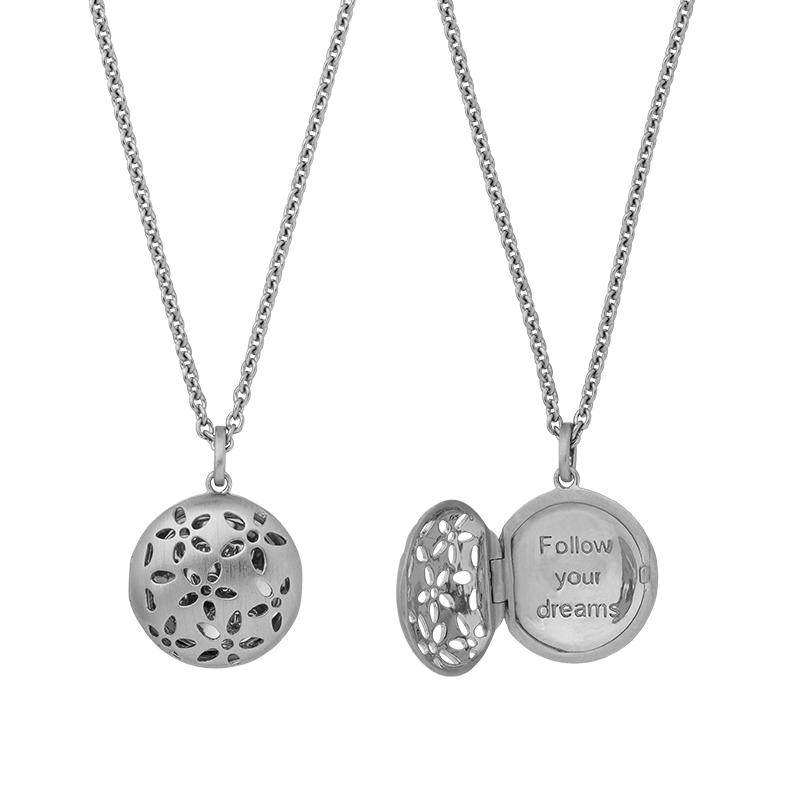 Image of   ByBiehl Power halskæde med vedhæng, sølv