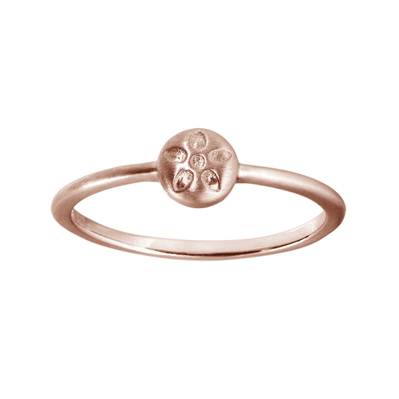 Billede af ByBiehl Signature ring rosa forgyldt