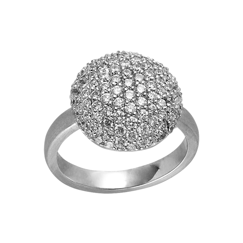 Image of   ByBiehl Sparkle Silver ring sølv med hvide zirkonia