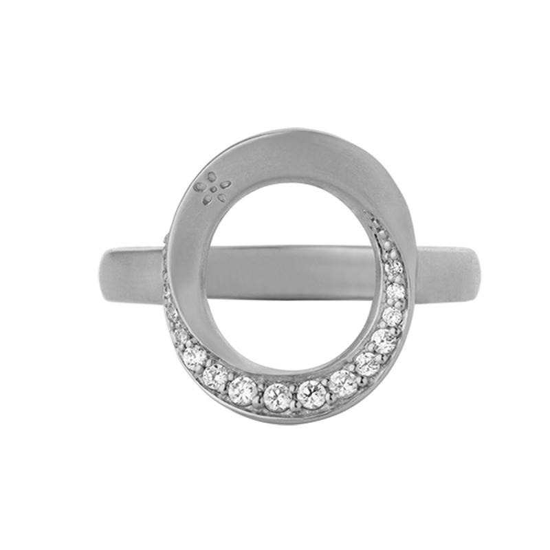 Image of   ByBiehl Swan ring, sølv med zirkonia