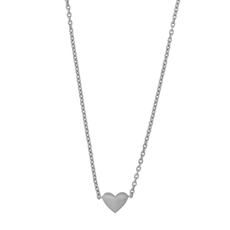 ByBiehl Sweet Love halskæde med et hjerte, sølv
