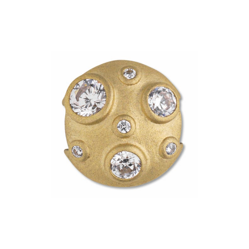 ByBiehl Passion Universe Gold charm forgyldt med cubic zirkonia
