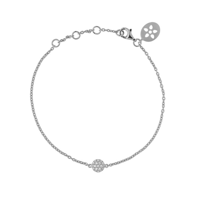 Image of   ByBiehl Venus Armbånd, sølv med hvide cz