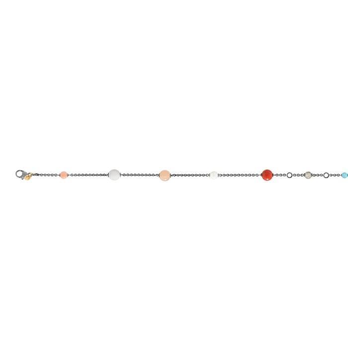 Ole Lynggaard Circus armbånd i sterling sølv med mix af sten