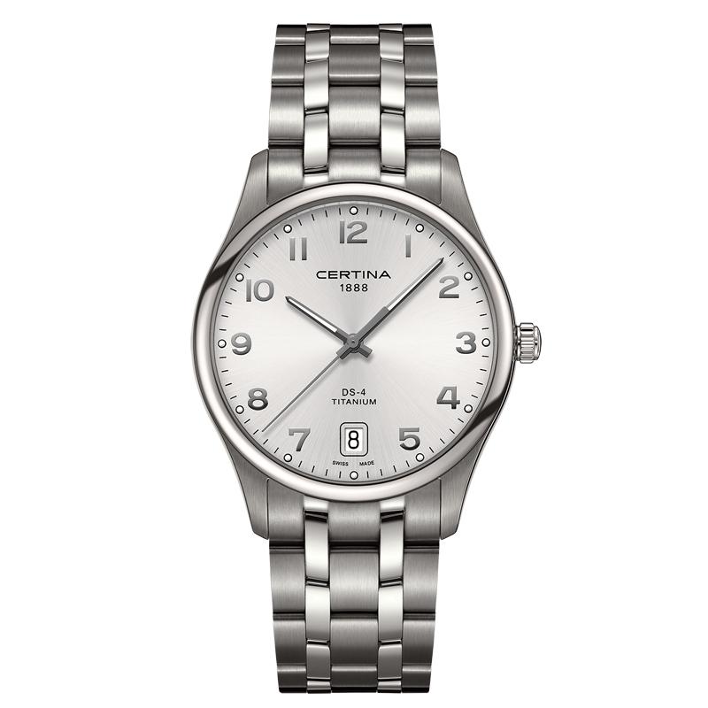 Certina DS 4 Ø 40 mm armbåndsur titanium, grå skive med arabertal