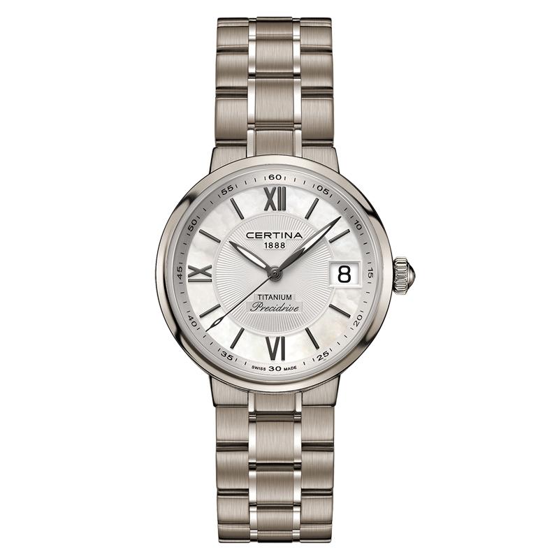 Image of   Certina Stella armbåndsur i titanium og perlemorsskive