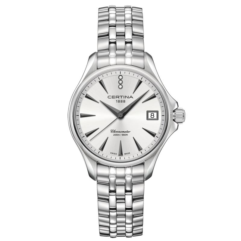 Image of   Certina DS Action Diamonds lady armbåndsur i stål med diamanter