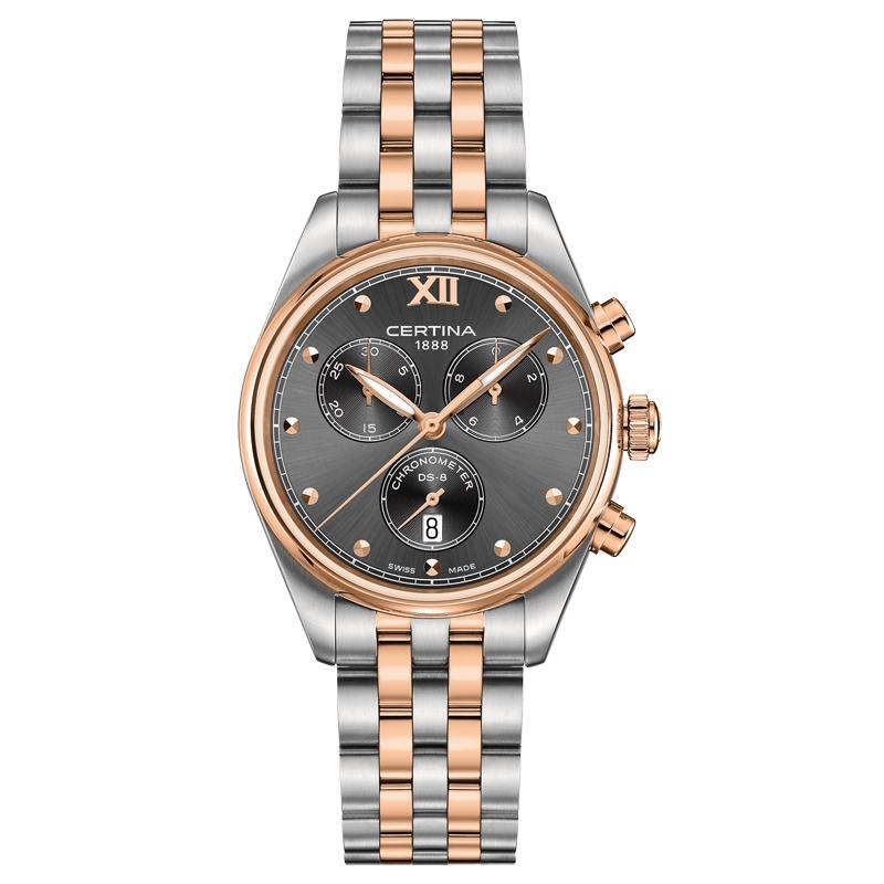Image of   Certina DS-8 Lady chronograph armbåndsur i stål