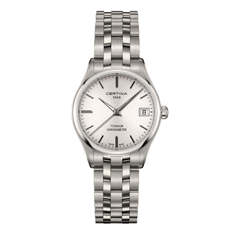 Image of   Certina DS-8 Lady titanium chronometer armbåndsur med lænke