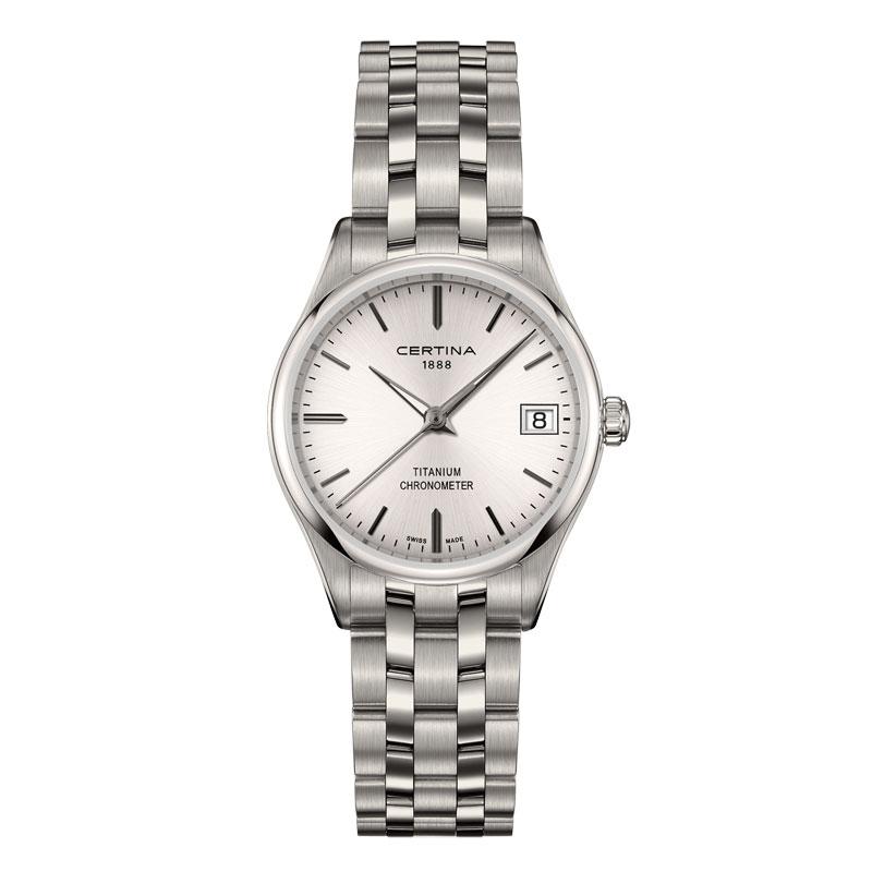 Image of   Certina DS-8 Lady titanium chronometer armbåndsur med lænke