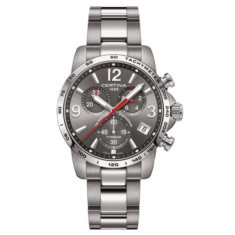 Image of   Certina DS Podium Chronograph 1/10 sec armbåndsur i titanium