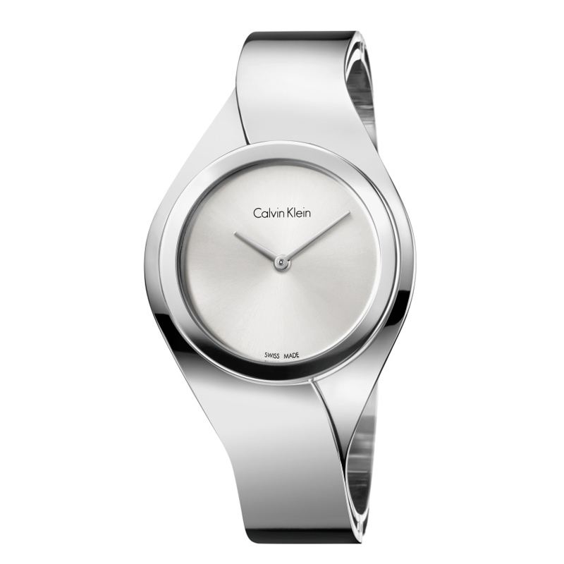 Calvin Klein - CK Senses dameur i stål, sølvfarvet skive