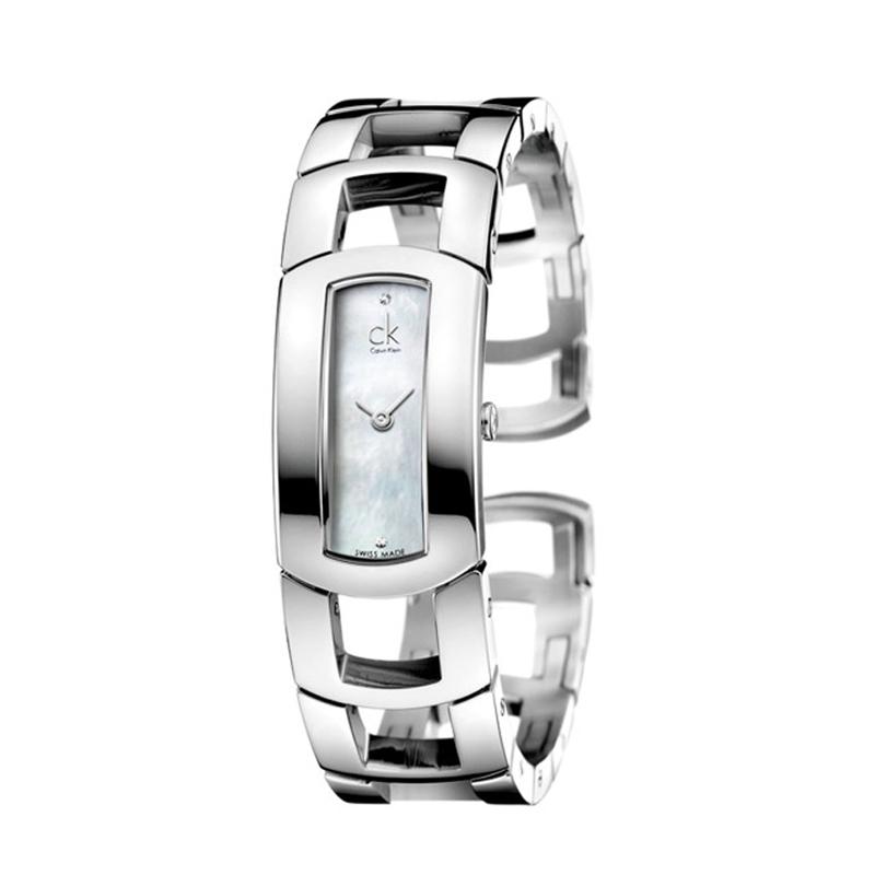 Image of   Calvin Klein - CK Dress dameur, stål med perlemorsskive og diamanter