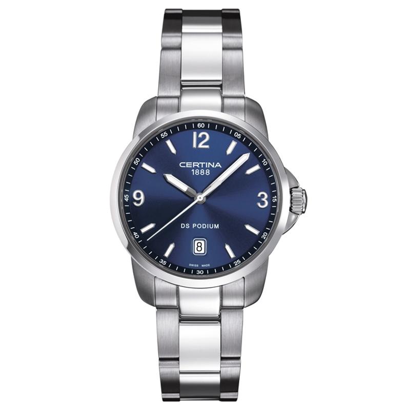 Certina DS Podium armbåndsur med blå skive