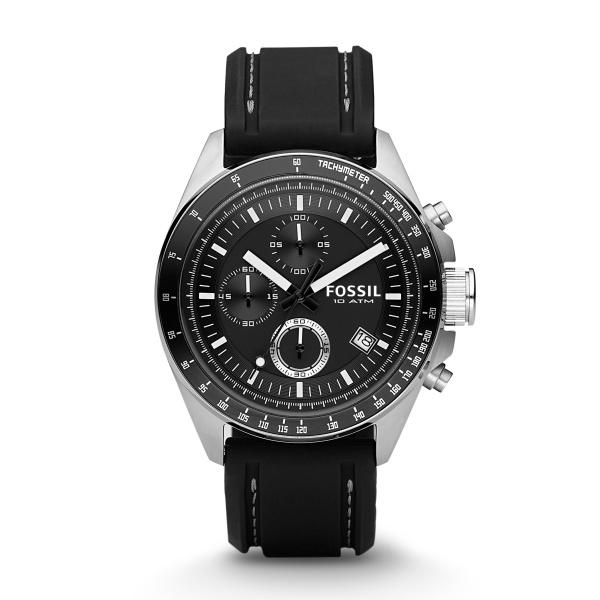 Image of   FOSSIL Decker armbåndsur chronograph i stål med gummirem