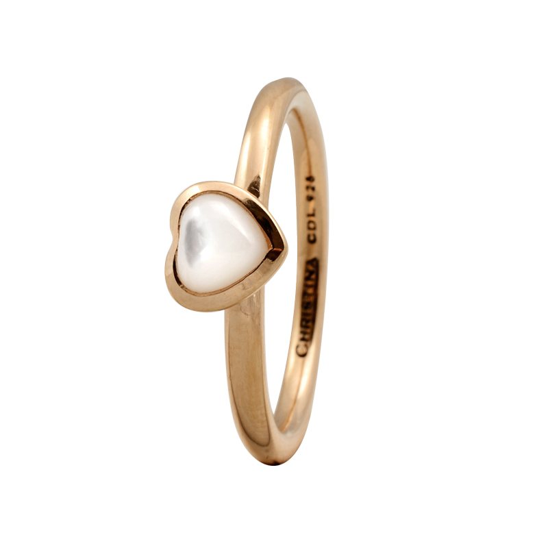 Image of   Christina Heart ring i forgyldt