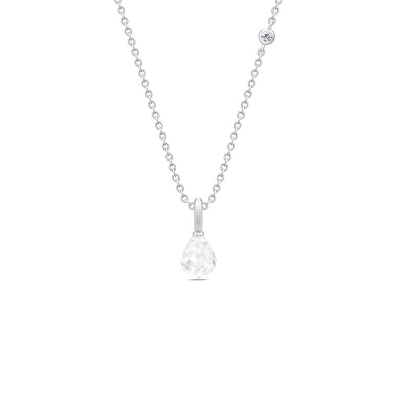 Julie Sandlau Evening Dew sølv halskæde med klar krystal