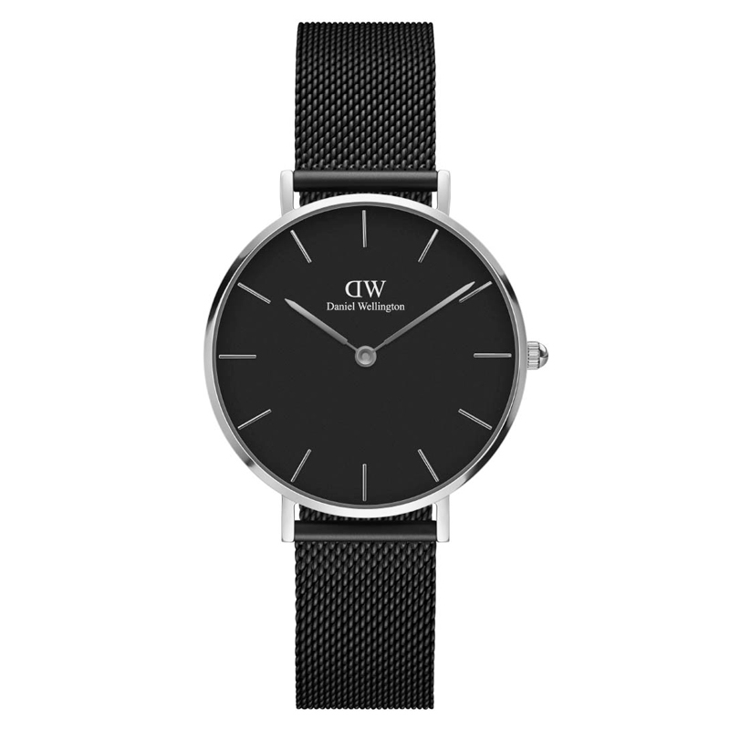 Image of   Daniel Wellington Classic Petite Black Ashfield dameur stål - 32 mm
