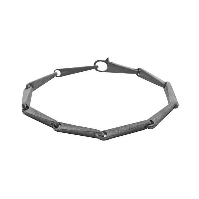 Von Lotzbeck Deco armbånd i oxideret sølv 19,5 cm