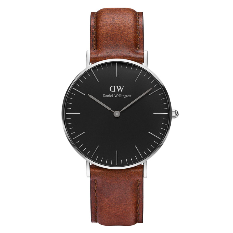 Image of   Daniel Wellington Classic Black St. Mawes i stål - 36 mm