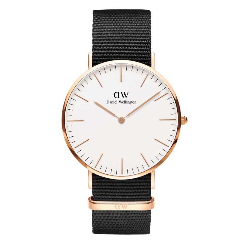 Image of   Daniel Wellington Classic Cornwall ur i rosa 36 mm