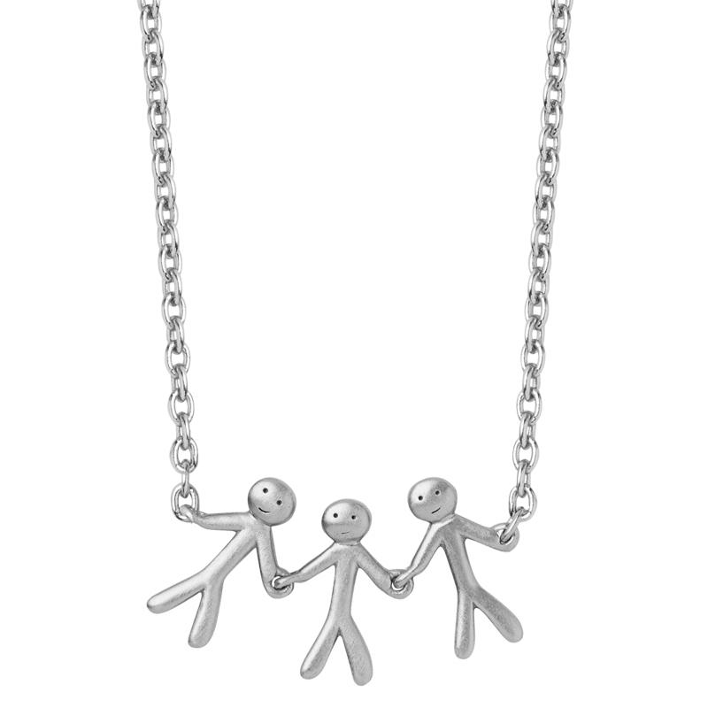 ByBiehl Family together 3 halskæde i sølv