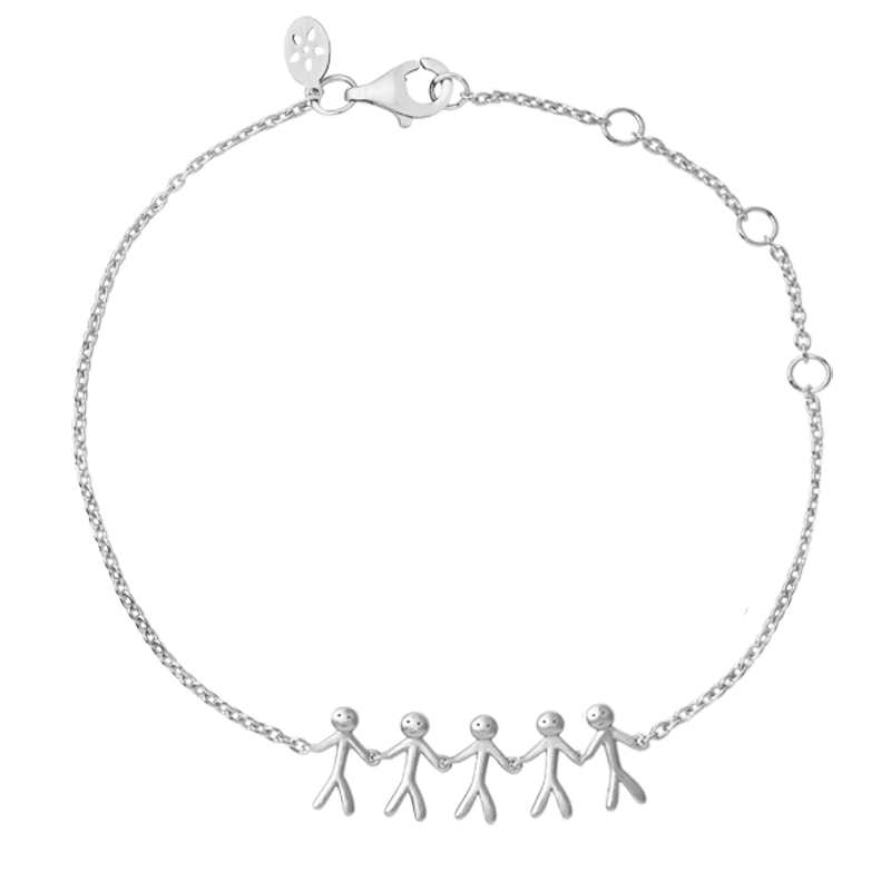ByBiehl Family together 5 armbånd i sølv thumbnail