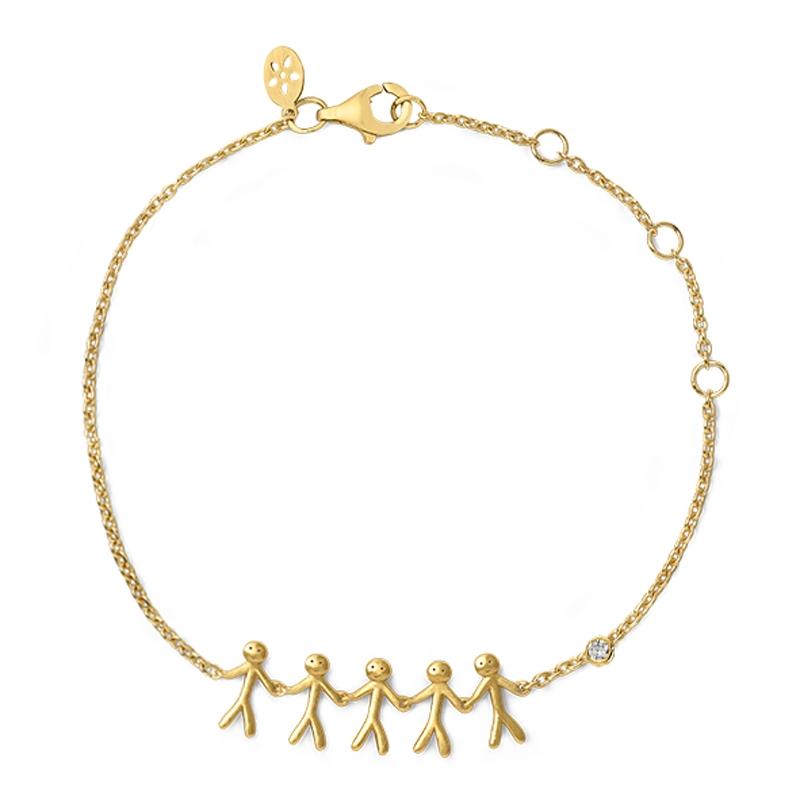 ByBiehl together familiy 5 armbånd i 14 kt guld med 0,02 ct diamant