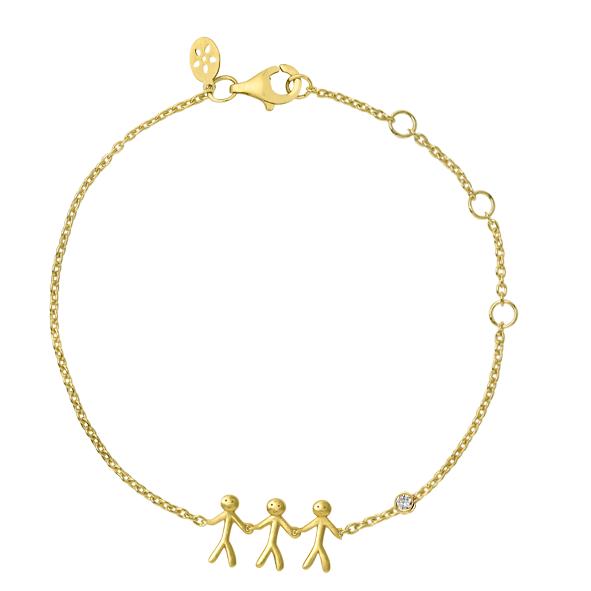ByBiehl together familiy 3 armbånd i 14 kt guld med 0,02 ct diamant
