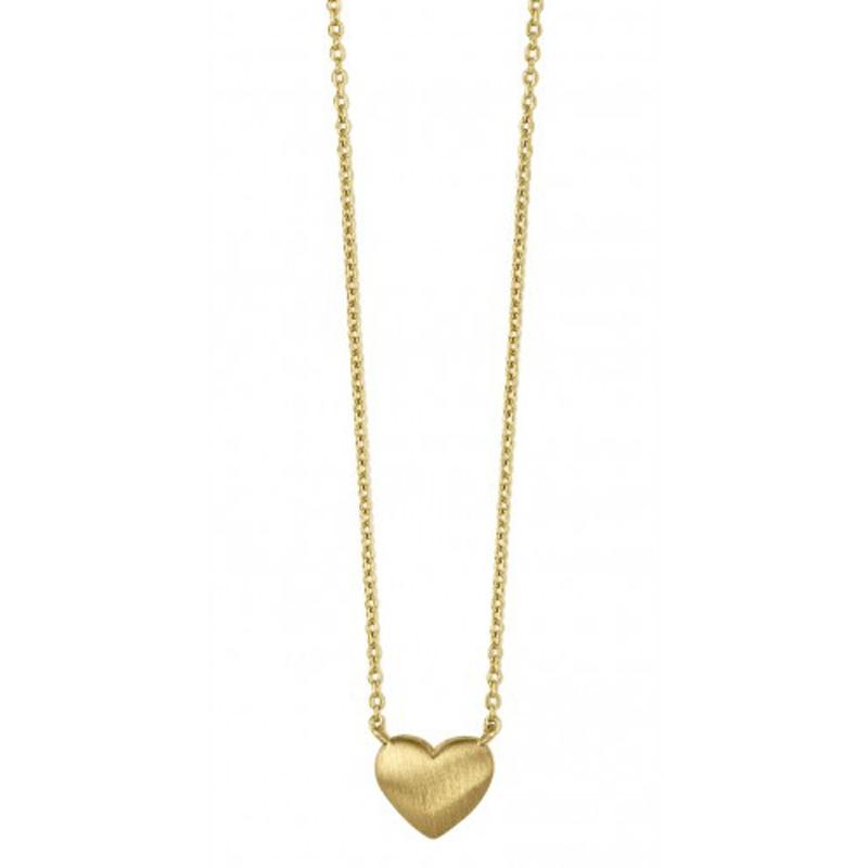 Bybiehl fine heart halskæde i 14 kt. guld