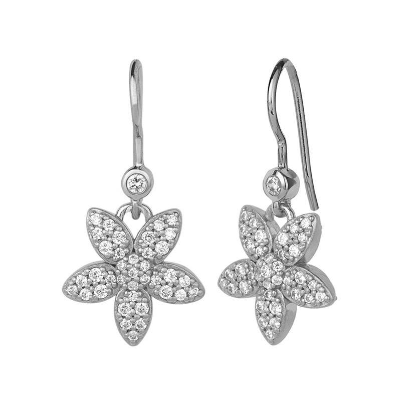 ByBiehl Forget Me Not sparkle øreringe i sølv med cubic zirkonia