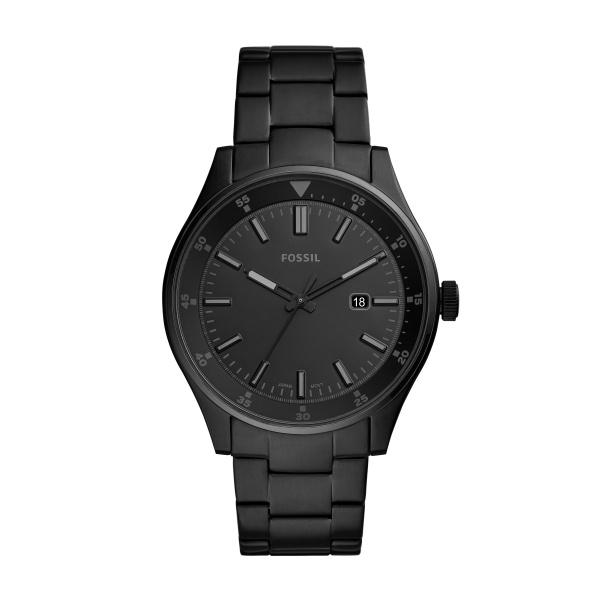 Image of   Fossil Belmar armbåndsur med sort skive og sort lænke