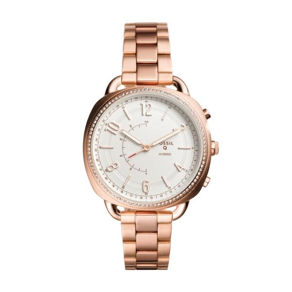 Fossil Q Hybrid ACCOMPLICE Smartwatch armbåndsur i rosafarvet stål