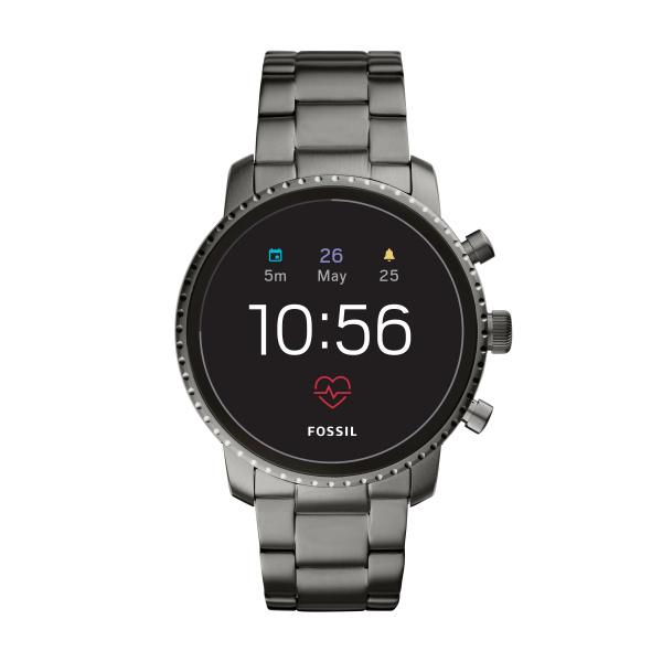 Image of   Fossil Q EXPLORIST Smartwatch armbåndsur i mørkt stål med lænke