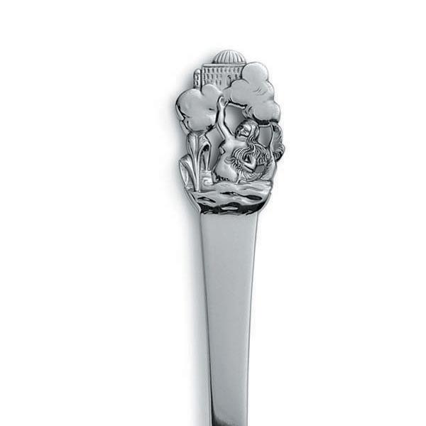 Gense Den lille havfrue barnegaffel i sølv