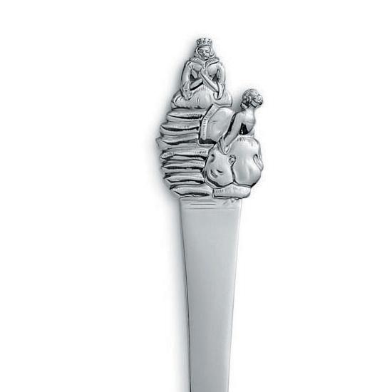 Gense Prinsessen på ærten madskubber i sølv
