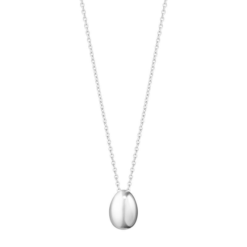 Image of   Georg Jensen Astrid Mini Egg, halskæde med vedhæng, sølv