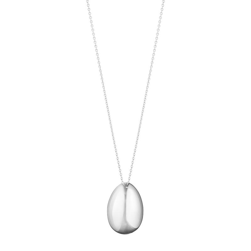Georg Jensen Astrid Small Egg, halskæde med vedhæng, sølv