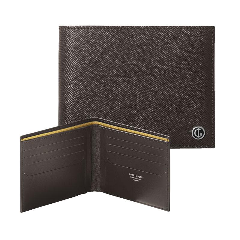 Georg Jensen Business Classic Pung i brun læder til 8 kort