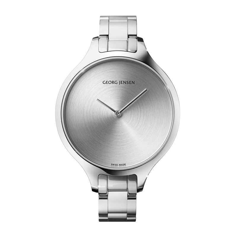 Image of   Georg Jensen Concave dameur med lænke, 39 mm
