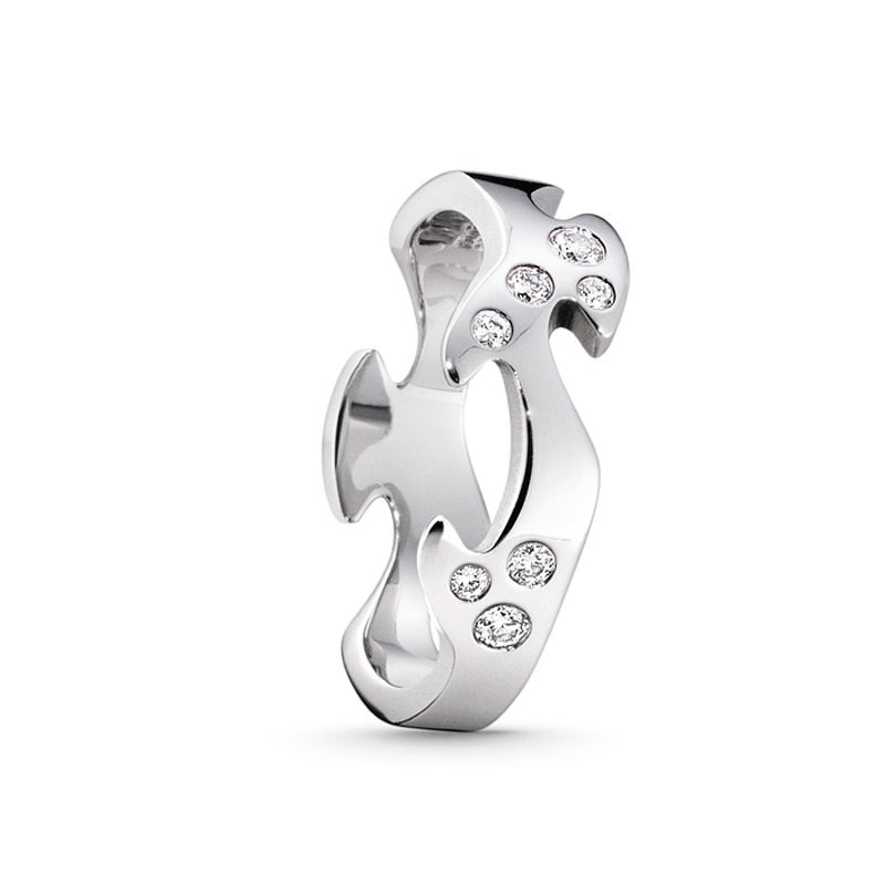 Image of   Georg Jensen Fusion centerring 1368A, 18 kt. hvidguld med 8 diamanter