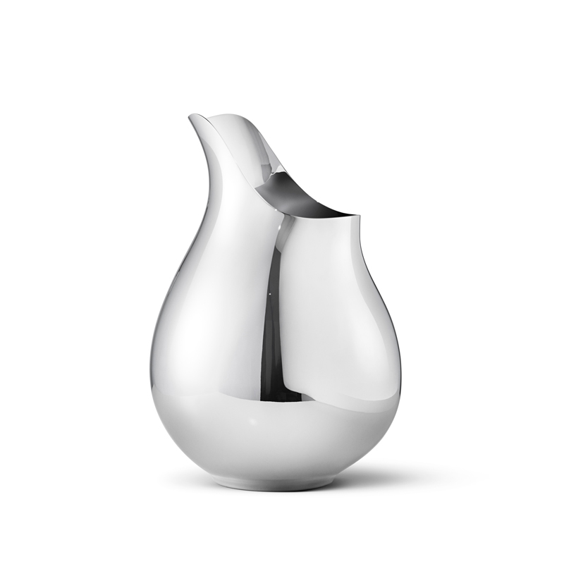 Image of   Georg Jensen Ilse vase i stål, medium