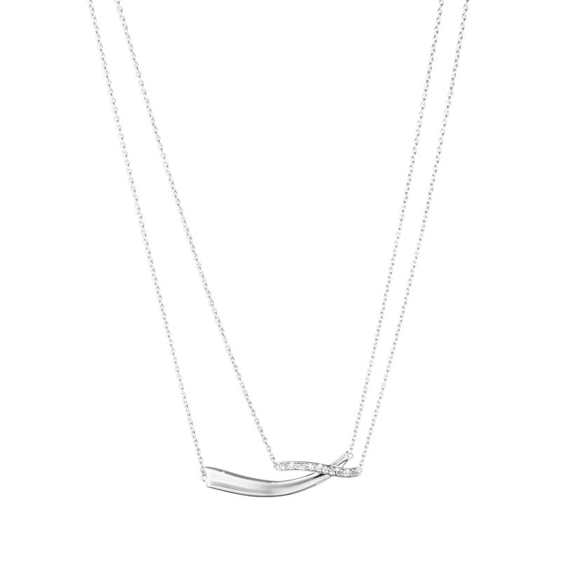 Georg Jensen Marcia vedhæng i sølv med diamanter 0,19 ct.