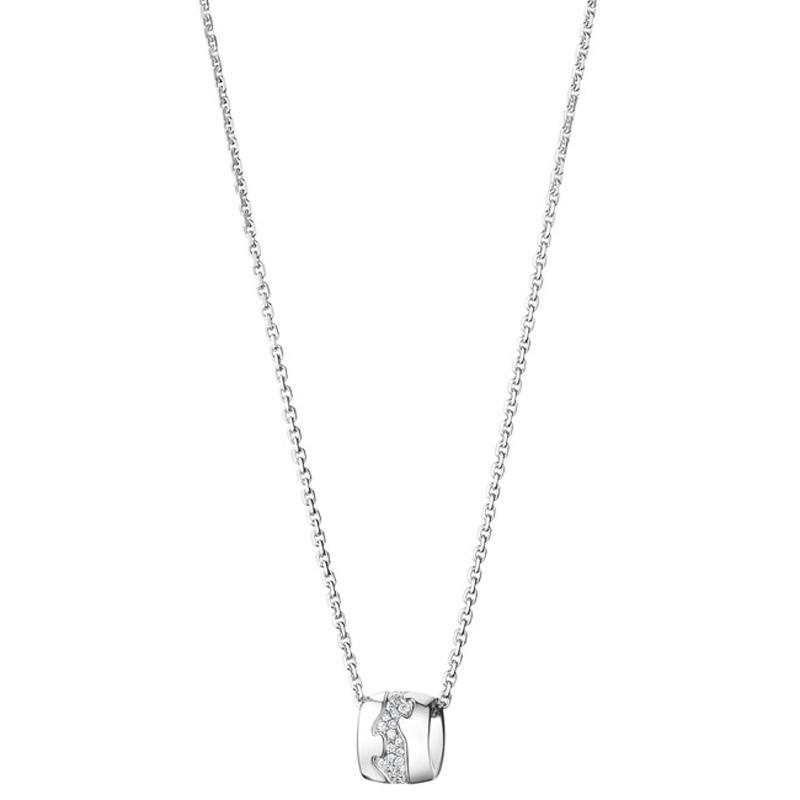 Image of   Georg Jensen Fusion vedhæng 1511B, 18 kt. hvidguld med diamante pavé