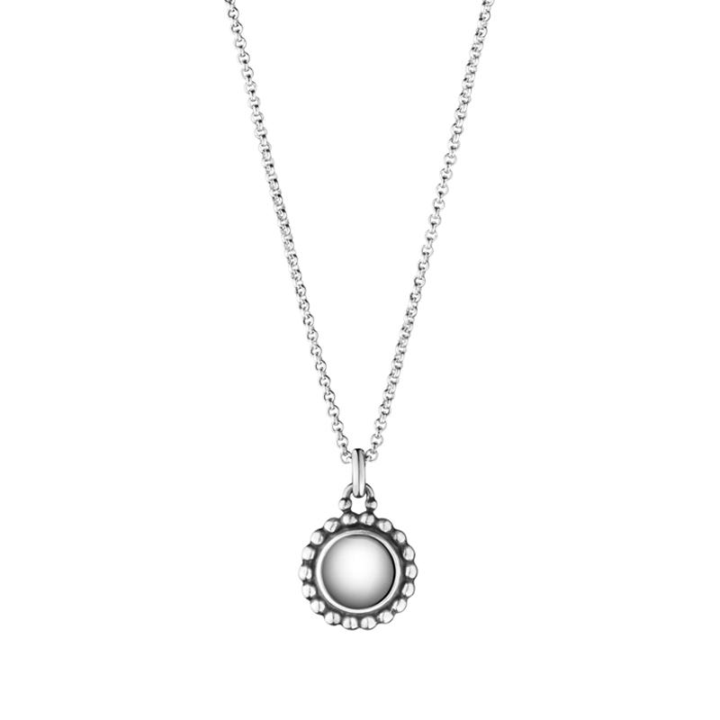 Georg Jensen Moonlight Blossom vedhæng 9A, sølv med sølvsten