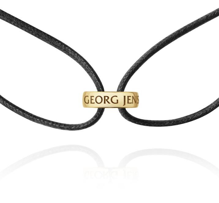 Georg Jensen Magic læder armbånd 1513, 18 kt. guld vedhæng