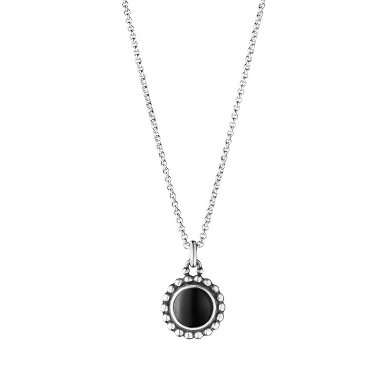 Image of   Georg Jensen Moonlight Blossom vedhæng 9A med sort onyx