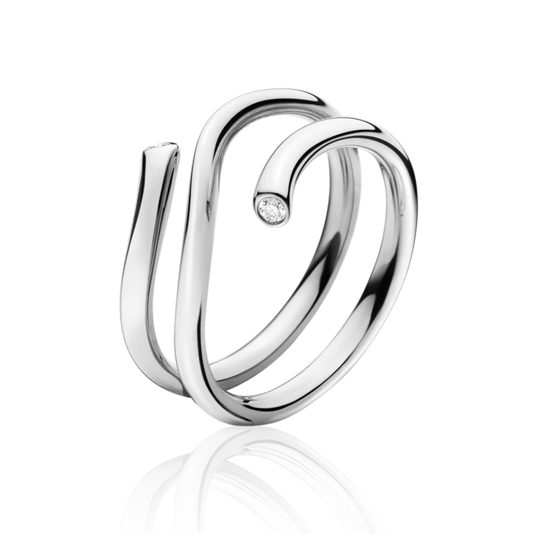 Georg Jensen Magic ring 1513A, hvidguld med brillanter