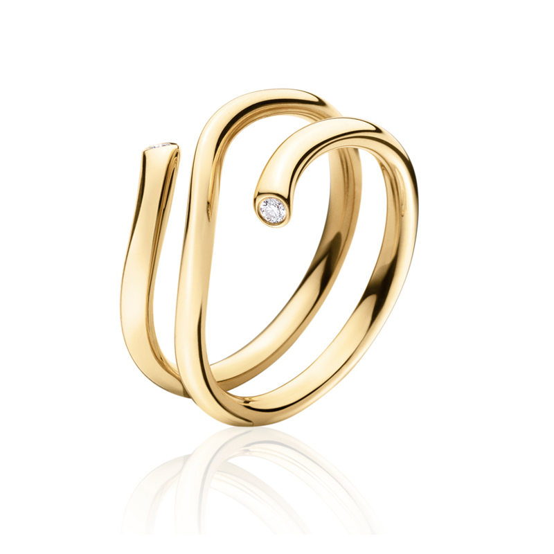 Georg Jensen Magic ring 1513A, 18 kt. guld med brillanter