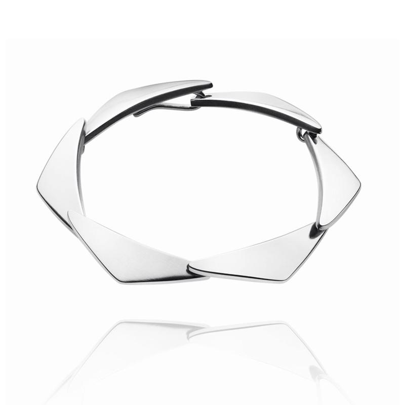 Georg Jensen Peak armbånd 12315, 17 cm - 6 led i sølv